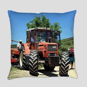 Tractor on El Camino, Spain Everyday Pillow