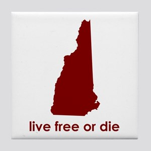 RED Live Free or Die Tile Coaster