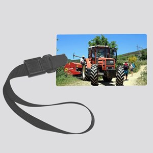 Tractor on El Camino, Spain Large Luggage Tag