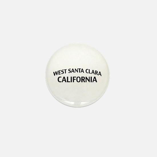 West Santa Clara California Mini Button