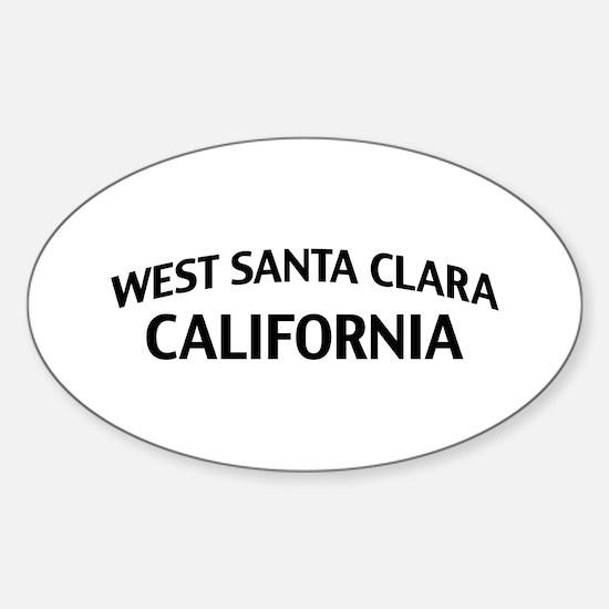 West Santa Clara California Sticker (Oval)