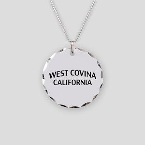 West Covina California Necklace Circle Charm