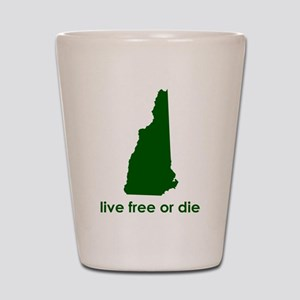 GREEN Live Free or Die Shot Glass