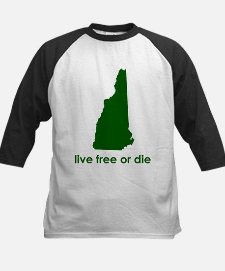 GREEN Live Free or Die Kids Baseball Jersey