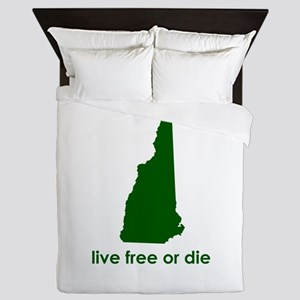 GREEN Live Free or Die Queen Duvet