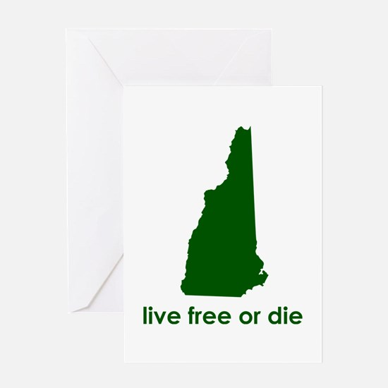 GREEN Live Free or Die Greeting Card