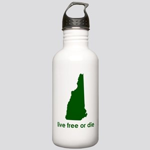 GREEN Live Free or Die Stainless Water Bottle 1.0L