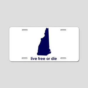 BLUE Live Free or Die Aluminum License Plate