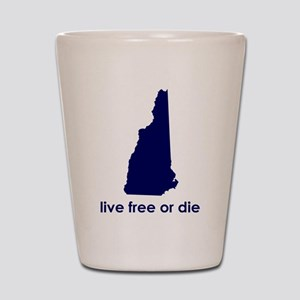 BLUE Live Free or Die Shot Glass