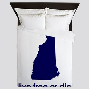 BLUE Live Free or Die Queen Duvet