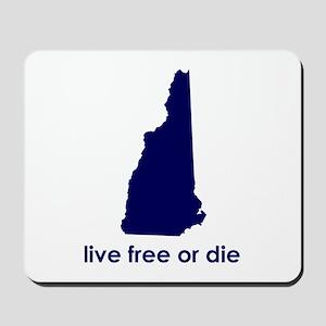 BLUE Live Free or Die Mousepad
