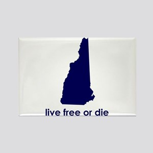 BLUE Live Free or Die Rectangle Magnet