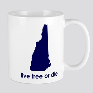 BLUE Live Free or Die Mug
