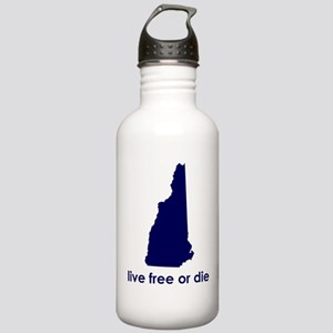 BLUE Live Free or Die Stainless Water Bottle 1.0L