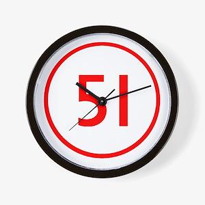 Squad 51 Emergency Wall Clock