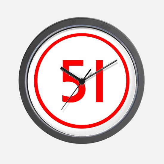 Squad 51 Emergency Wall Clock