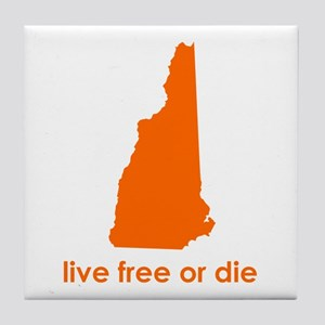 ORANGE Live Free or Die Tile Coaster
