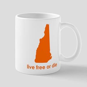 ORANGE Live Free or Die Mug