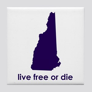 PURPLE Live Free or Die Tile Coaster