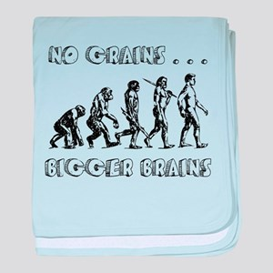 No Grains, Bigger Brains baby blanket