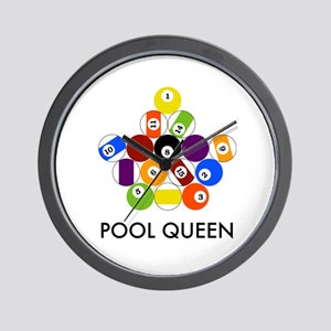 Pool Queen Wall Clock