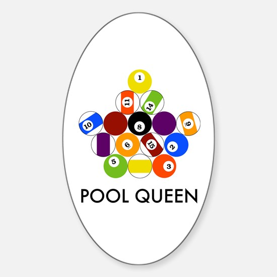 Pool Queen Sticker (Oval)