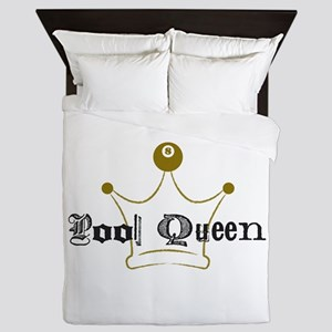 8 Ball Pool Queen, Billiards Queen Duvet