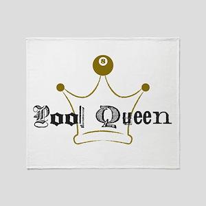 8 Ball Pool Queen, Billiards Throw Blanket