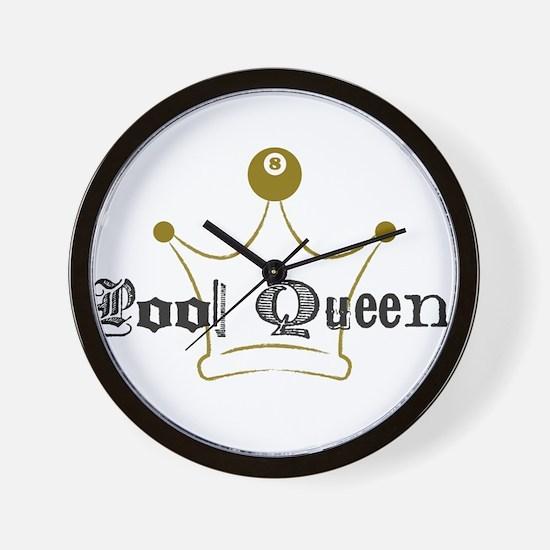8 Ball Pool Queen, Billiards Wall Clock
