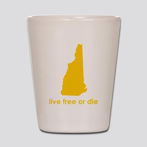 YELLOW Live Free or Die Shot Glass