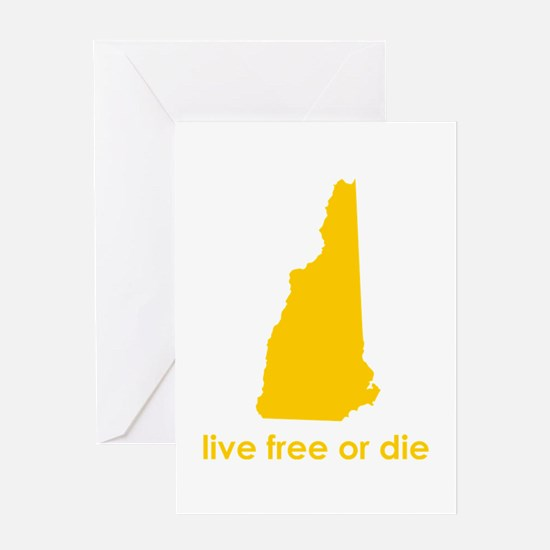 YELLOW Live Free or Die Greeting Card