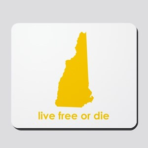 YELLOW Live Free or Die Mousepad