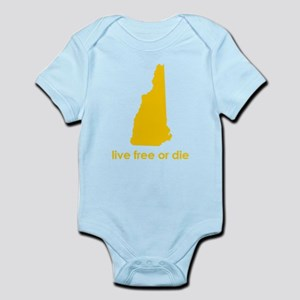 YELLOW Live Free or Die Infant Bodysuit
