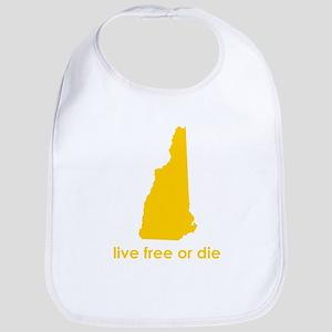 YELLOW Live Free or Die Bib