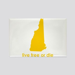YELLOW Live Free or Die Rectangle Magnet