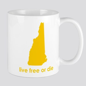 YELLOW Live Free or Die Mug