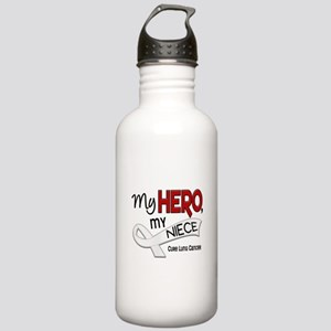 My Hero Lung Cancer Stainless Water Bottle 1.0L