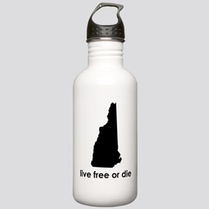 BLACK Live Free or Die Stainless Water Bottle 1.0L