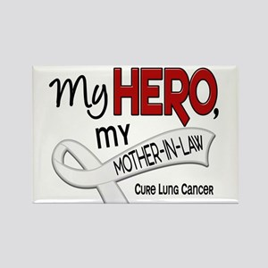 My Hero Lung Cancer Rectangle Magnet