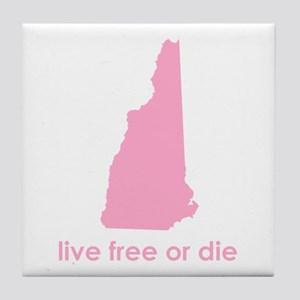 PINK Live Free or Die Tile Coaster