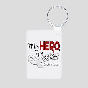 My Hero Lung Cancer Aluminum Photo Keychain