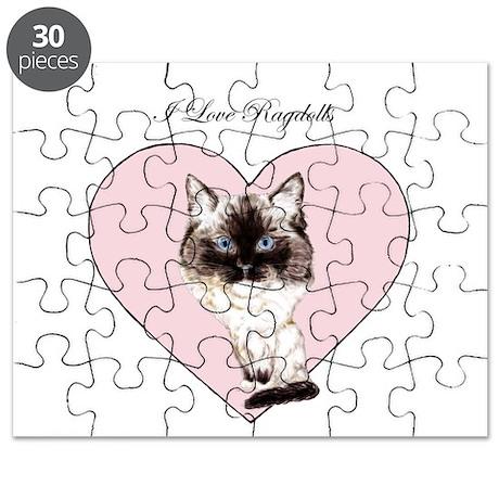 I Love Ragdolls Puzzle