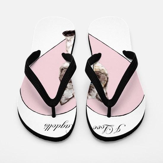 I Love Ragdolls Flip Flops