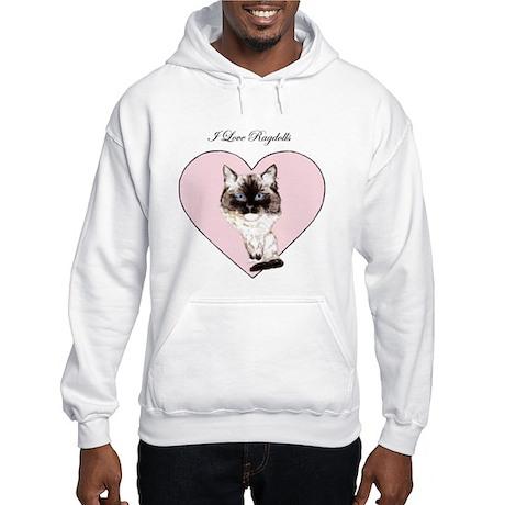 I Love Ragdolls Hooded Sweatshirt