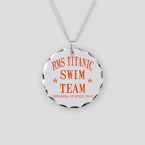Titanic Swim Team Necklace Circle Charm
