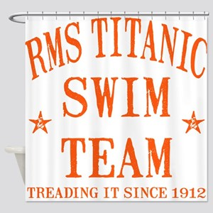 Titanic Swim Team Shower Curtain