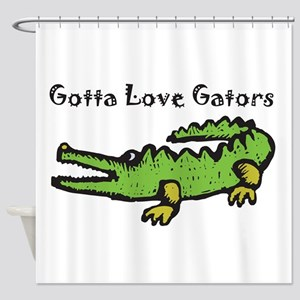 Gotta Love Gators Shower Curtain