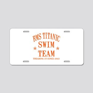 Titanic Swim Team Aluminum License Plate