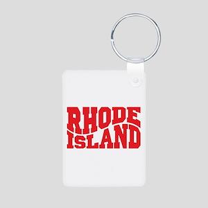 Rhode Island Aluminum Photo Keychain