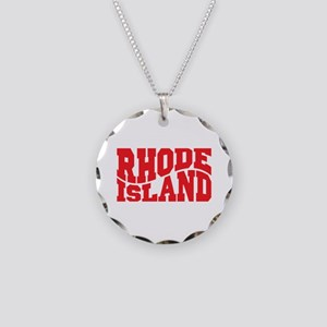Rhode Island Necklace Circle Charm